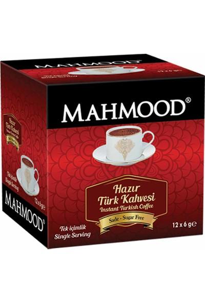 Mahmood Coffee Hazır Türk Kahvesi Sade 6 gr 12' li
