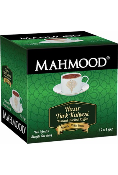 Mahmood Coffee Hazır Türk Kahvesi Şekerli 9 gr 12' li