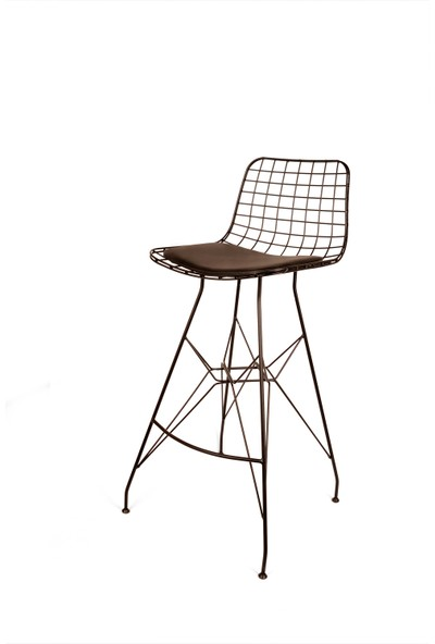 Kenzlife Tel Bar Sandalye Ofis Cafe Mutfak İç Dış Ortam Sandalyesi