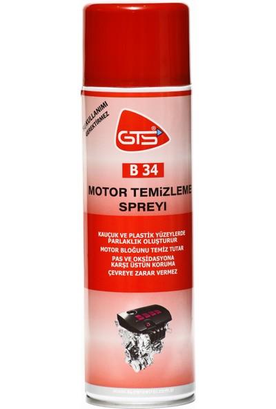 Gts B34 Motor Temizleme Spreyi 500Ml (Su Kullanımı Gerektirmez)