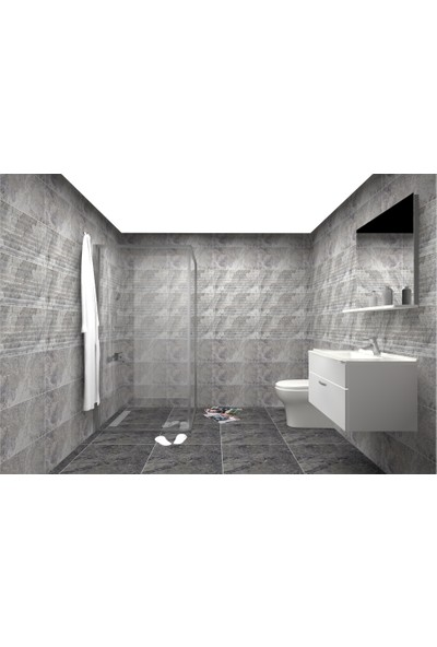 VitrA Bi Banyo Seti Duşakabin + Banyo Dolabı + Klozet Seti + Versus Seramik serisi
