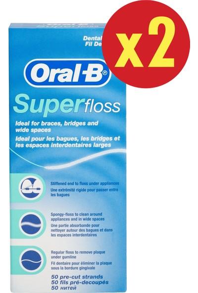 Oral-B Diş İpi Super Floss 4 x 50 Adet