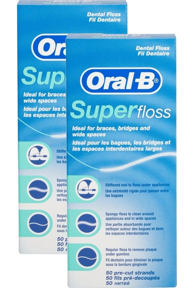 Oral-B Diş İpi Super Floss 2 x 50 Adet