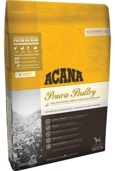 Acana Classics Prairie Poultry Köpek Maması 17 kg