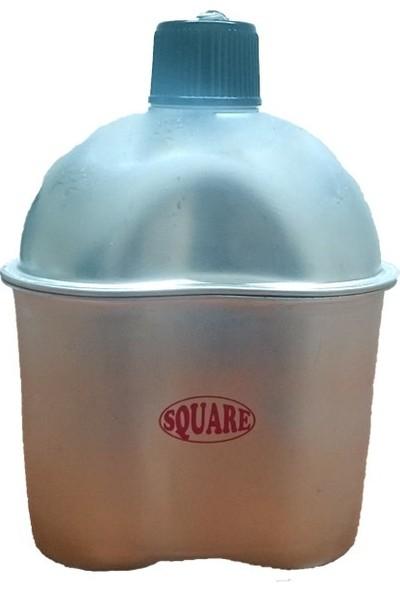 Square 930Cv Taslı Matara(Kamuflaj Kılıflı)