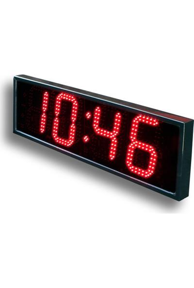 B.A.R Elektronik Led Dijital Saat İç Dış Mekan Saat Rakam Yüksekliği 12 cm Kumandalı