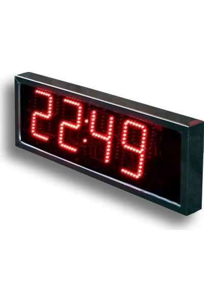 B.A.R Elektronik Led Dijital Saat Dış Mekan Saat Rakam Yüksekliği 12 cm Kumandalı