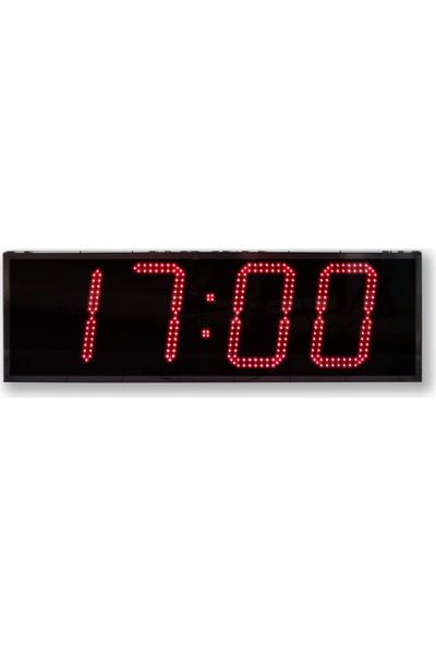 B.A.R Elektronik Çift Taraflı Led Dijital Saat İç Dış Mekan Saat Rakam Yüksekliği 30 cm Kumandalı