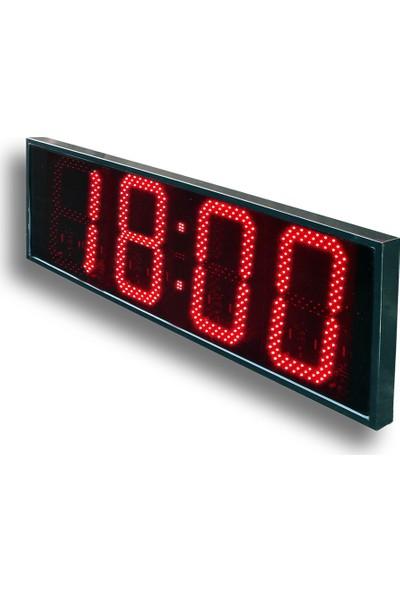 B.A.R Elektronik Led Dijital Saat İç Dış Mekan Saat Rakam Yüksekliği 30 cm Kumandalı