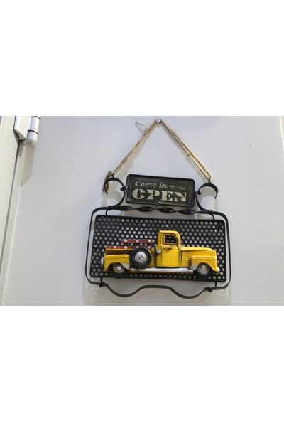 Mnk Metal 3D Kamyon Open Arkası Resim Çerçeveli Kapı Yazısı 1510E5478
