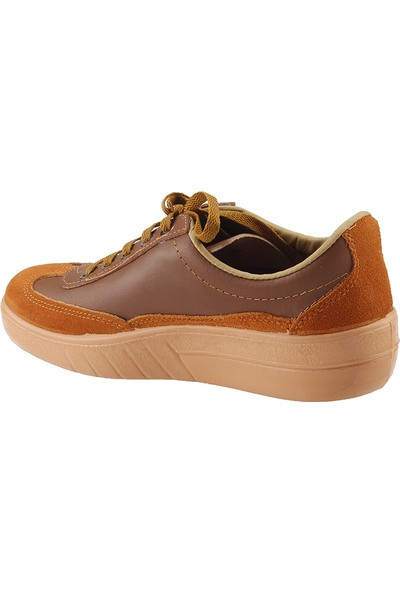 Mekap Bej İş Güvenlik Erkek Ayakkabı