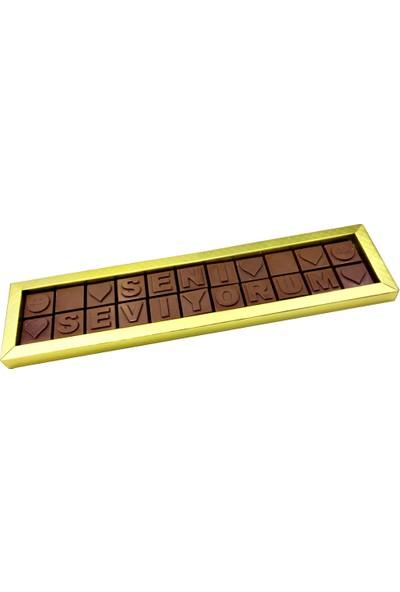 Gondol Çikolata Seni Seviyorum (Harf Çikolata)