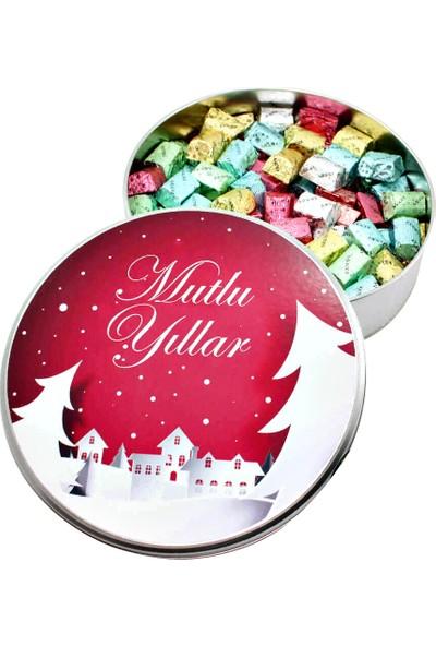 Gondol Çikolata Yeni Yıla Özel Metal Kutuda Baton Çikolata (Orta Boy)