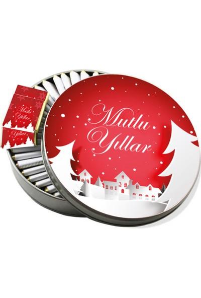 Gondol Çikolata Metal Kutuda Yılbaşı Çikolatası