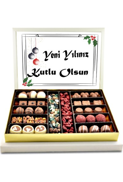 Gondol Çikolata Yeni Yılınız Kutlu Olsun Spesiyal Çikolata (Büyük Boy)