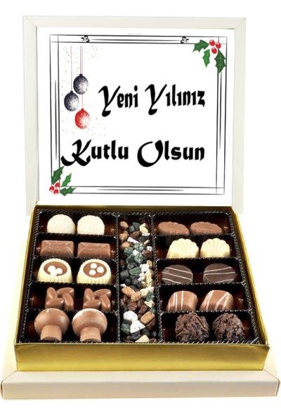 Gondol Çikolata Yeni Yılınız Kutlu Olsun Spesiayl Çikolata (Orta Boy)