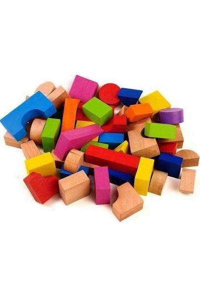Ahşap Bloklar 39 Lu Silindir Kutu
