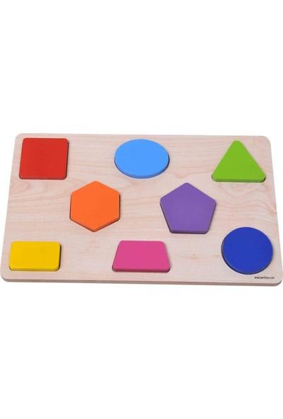Geometrik Puzzle Ahşap