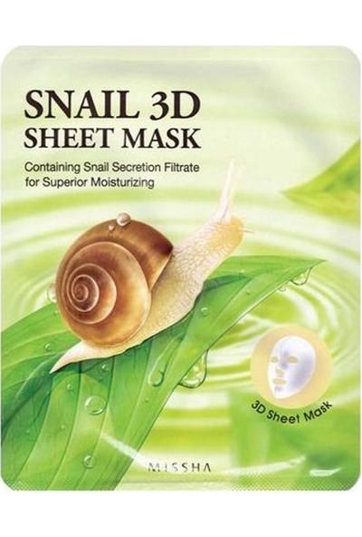 Missha Healing Snail 3D Sheet Mask - Salyangoz Özlü Yaprak Maske