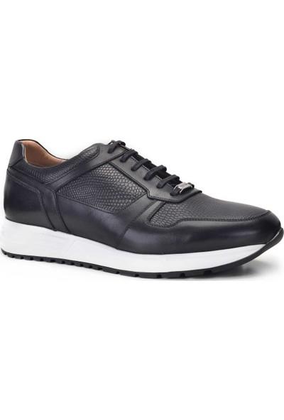 Nevzat Onay Sneaker Siyah Renk Deri Erkek Ayakkabı