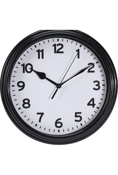 Koopman Duvar Saati Siyah 22.3X3.8Cm