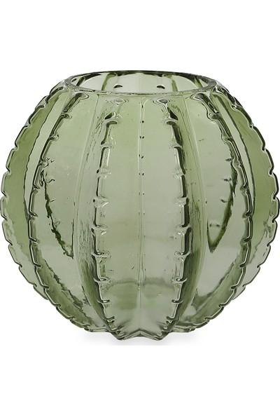 Koopman Cam Vazo Su Yeşili 17X15CM