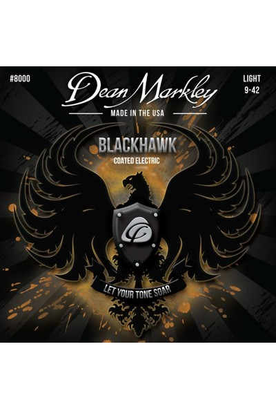 Dean Markley Blackhawk 8000 Kaplamalı Light 9-42 Elektro Gitar T