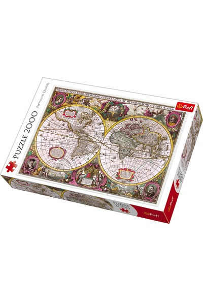 Trefl Puzzle Map Of The Entire Earth, 1630 2000 Parça Puzzle