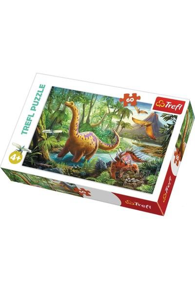 Trefl Puzzle Dinosaur Migration 60 Parça Puzzle