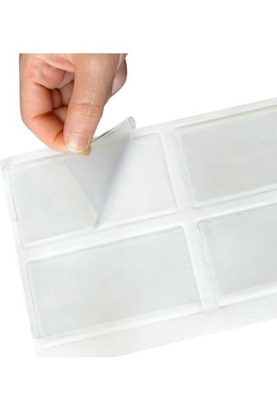 Aso Plastik Yapışkanlı Cep, Arkası Yapışkanlı, 100 Adetlik Paket