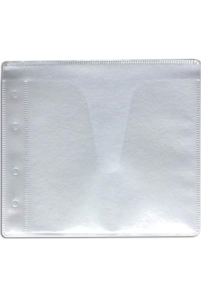 Aso Dosya Delikli Cd Zarfı (2 Cd İçin) 100 Adet Beyaz