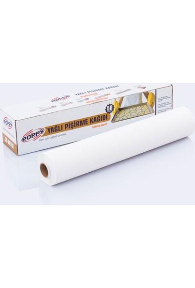 Poppy Yağlı Pişirme Kağıdı 50 m