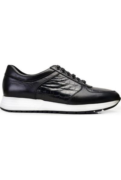 Nevzat Onay Siyah Sneaker Deri Erkek Ayakkabı