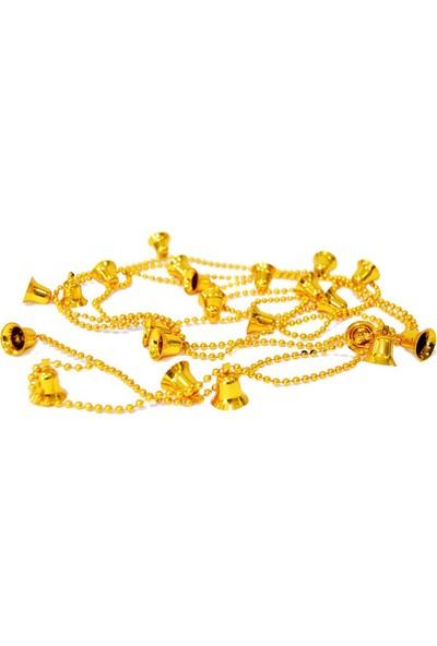 Balonpark 1 Adet Gold (Altın) Çanlı Zincir Yılbaşı Çam Ağacı Süsü
