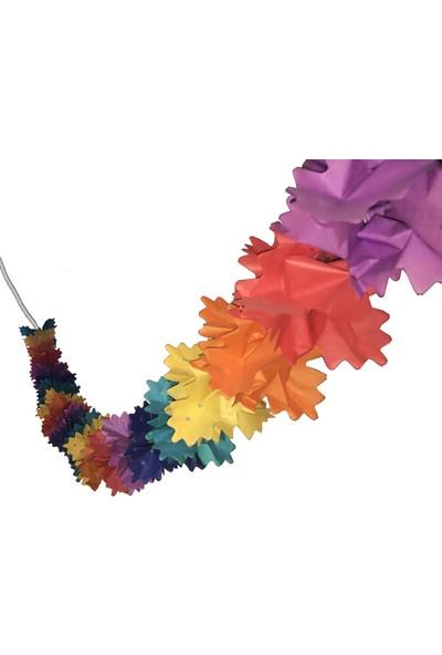 Balonpark 1 Adet Renkli Kağıt Gramafon Duvar (Tepe) süsü 2mt