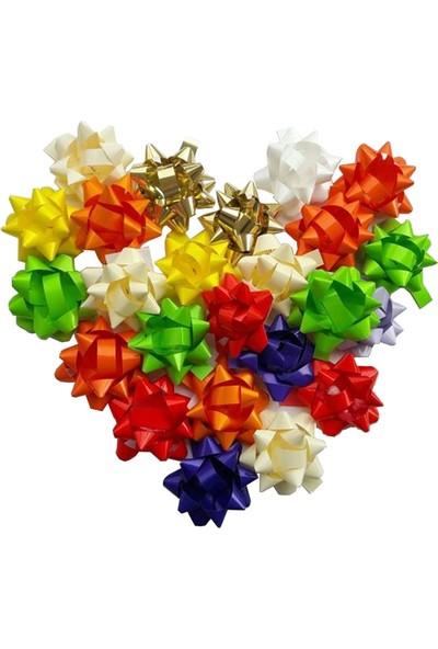 Balonpark 100 Adet Renkli Yapışkanlı Hediye Paketi Süsü