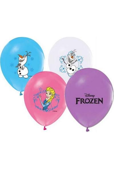 Balonpark 12 li Elsa Frozen Baskılı Karışık Balon Helyumla Uçan