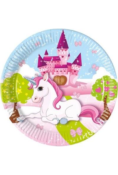 Balonpark 8 Adet Unicorn Tekboynuz At Baskılı Tabak Doğum Günü Partisi
