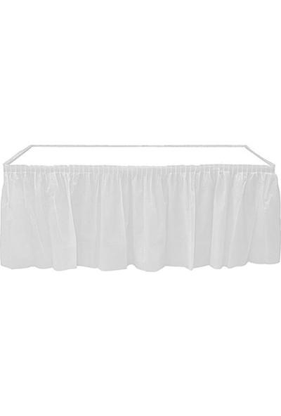 Balonpark Beyaz Table Skirt Masa Eteği 74 x 426 cm Doğum Günü Parti Ucuz