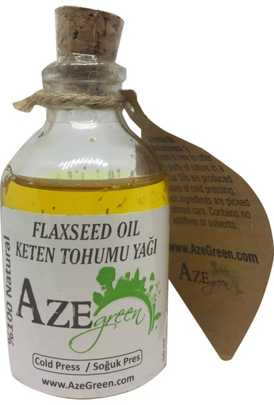 Aze green Keten Tohumu Yağı %100 Doğal, Saf Ve Katkısız 50 ml