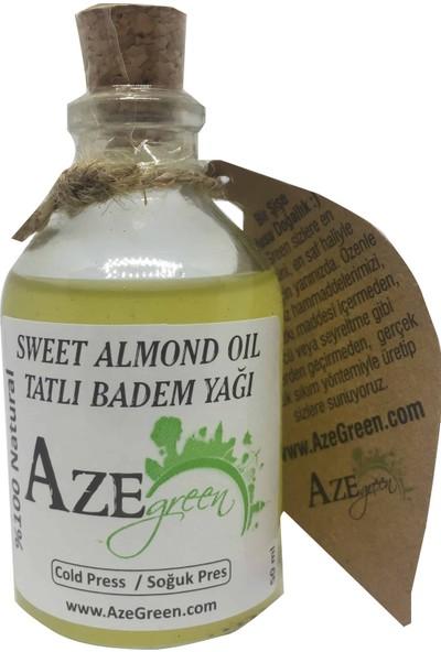 Aze green Tatlı Badem Yağı %100 Doğal, Saf Ve Katkısız 50 ml