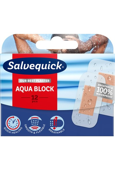 Salvelox Aqua Block Su Geçirmez Yara Bandı 12'li