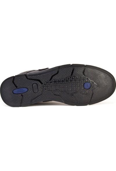 Cabani Bağcıklı Hafif Taban Günlük Erkek Ayakkabı Gri Deri