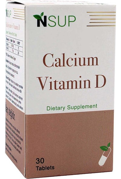 Nsup Vitamin D3 & Calcium 1400 Mg 30 Tablet