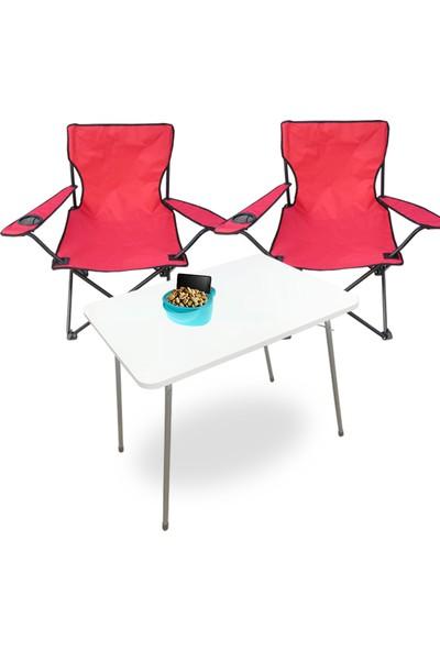 Sandalye Masa Piknik Set, Kamp Sandalyesi Balkon Bahçe Masası