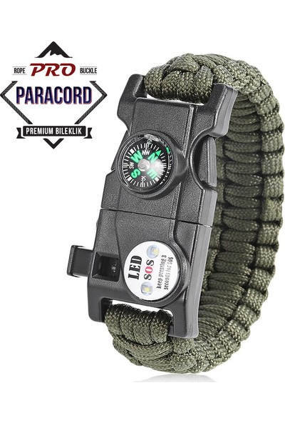 Paracord Outdoor Survival Bileklik - 19İn1 (19 Özellik)