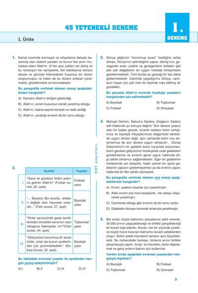 Lgs 8.Sınıf Din Kültürü Ve Ahlak Bilgisi Yetenekli 45 Deneme - Ddy Yayınları