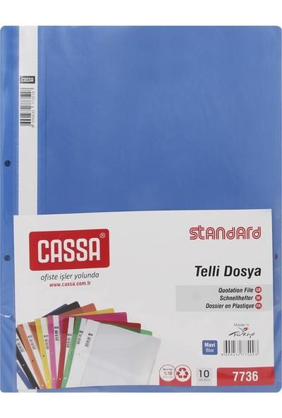 Cassa Standard Mavi Telli Dosya (10'Lu)