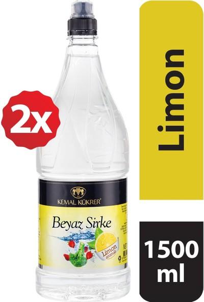 Kemal Kükrer Beyaz Sirke Limon Aromalı 1500 ml 2 Li Paket
