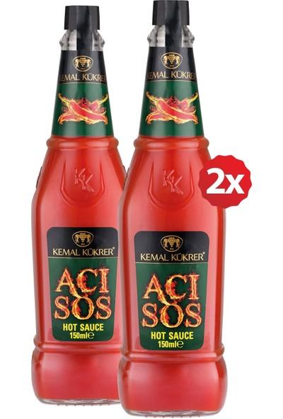 Kemal Kükrer Acı Sos Hot Sauce 150 ml 2' Li Paket